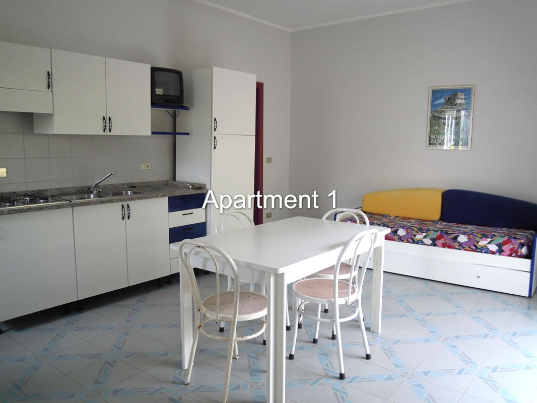 soggiorno appartamento mare Taormina