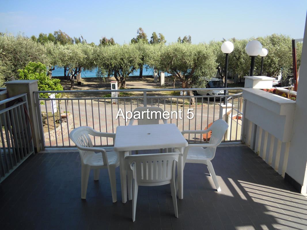 vista appartamento 5 mare Taormina