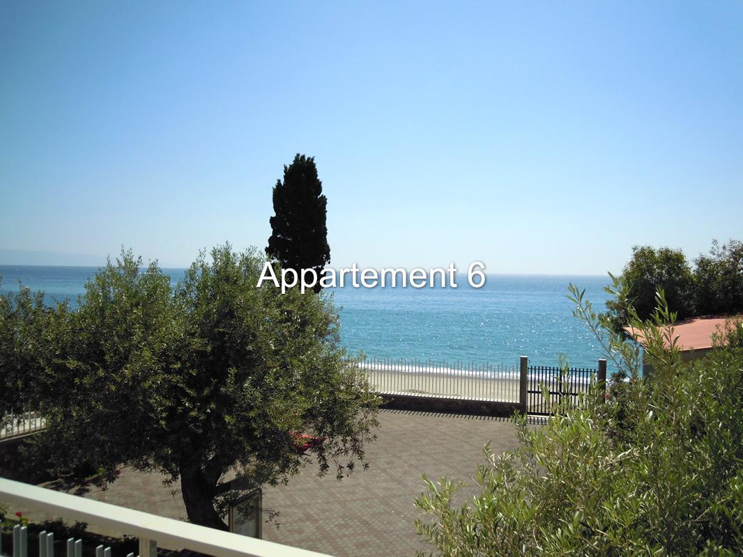 vista appartamento sei mare Taormina